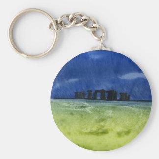 Storm over Stonehenge Key Chain