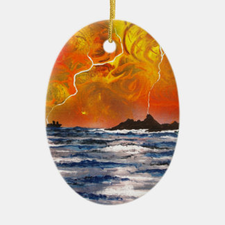 Storm Overhead Ceramic Oval Decoration