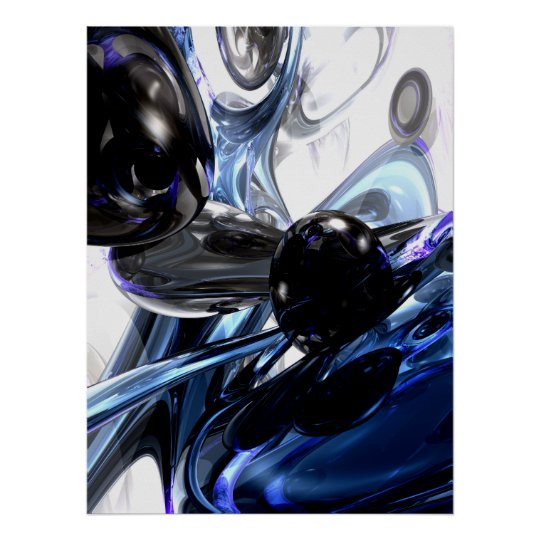 Storm Shadow Abstract Poster