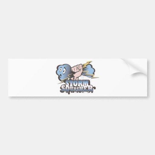 Storm Squasher Bumper Sticker Car Bumper Sticker