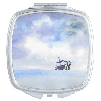 Storm-Tossed Ship Compact Vanity Mirror