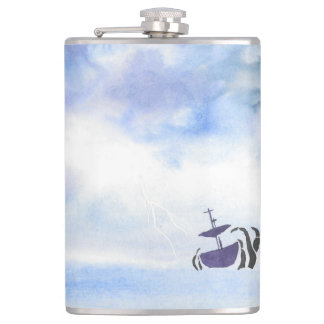 Storm Tossed Ship Flask