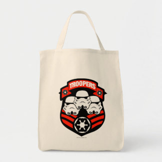 Storm Troopers Badge B Grocery Tote Bag