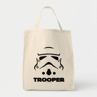 Storm Troopers Line Art Grocery Tote Bag