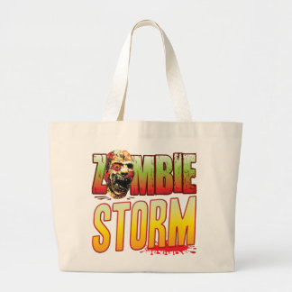 Storm Zombie Head Tote Bag