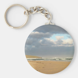 Stormclouds Basic Round Button Key Ring