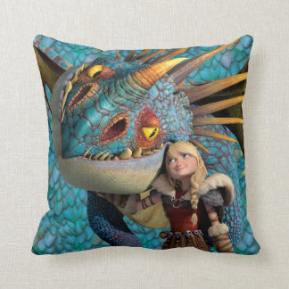Stormfly And Astrid Throw Pillow