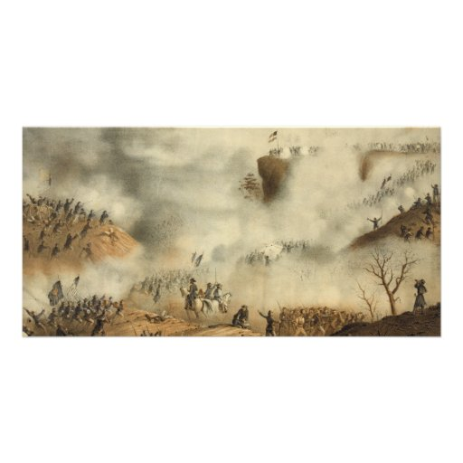 Storming and Capture of Lookout Mountain Civil War Customised Photo Card