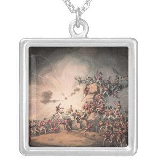 Storming of Ciudad Rodrigo, aquatinted by Silver Plated Necklace