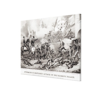 Storming of Monterey Canvas Print