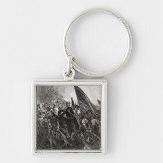 Storming of Stony Point, July 1779 Silver-Colored Square Key Ring