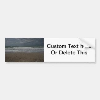 Stormy beach ocean view bumper stickers