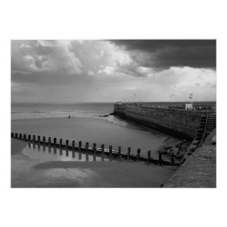 Stormy Bridlington Poster