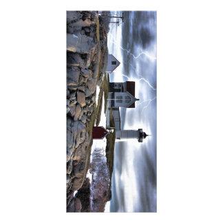 "Stormy Cape Neddick ""Nubble"" light house Custom Rack Card"