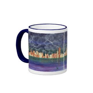 Stormy Chicago Ringer Mug