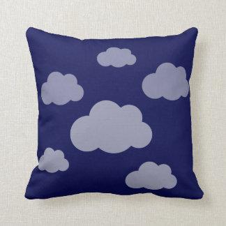 Stormy clouds indigo blue cushion