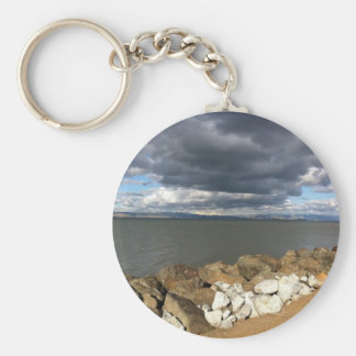 Stormy Clouds over San Francisco Bay Keychains