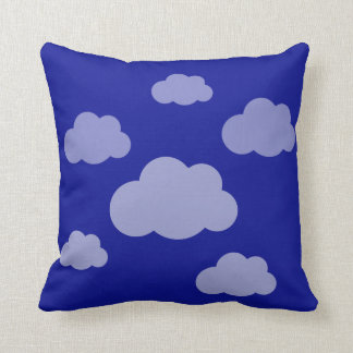 Stormy clouds ultra blue cushion