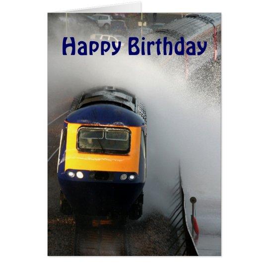 Stormy day on the railway line. Happy Birthday