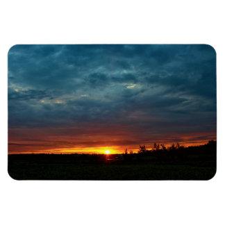 Stormy Dramatic Dawn Rectangular Photo Magnet
