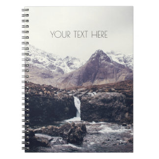 Stormy Fairy Pools | Spiral Notebook