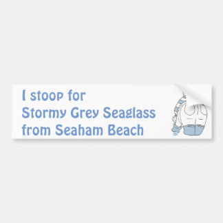 Stormy Grey Seaglass Bumper Sticker