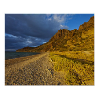 Stormy light on Isla Carmen in the Gulf of Poster