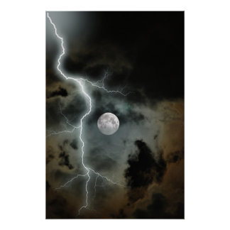 Stormy Moon Posters