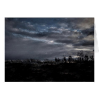 Stormy Night Blank Greeting Card