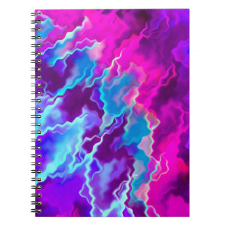 Stormy Pink Purple Teal Notebook