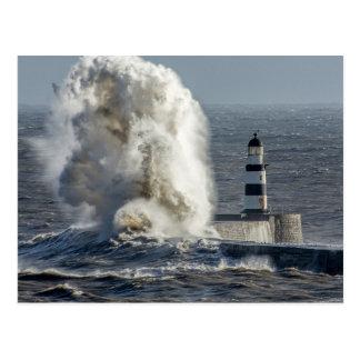 Stormy Seas at Roker Postcard