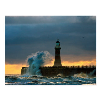 Stormy Seas at Roker Postcard