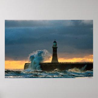Stormy Seas at Roker Poster/Print Poster