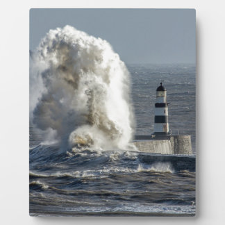 Stormy Seas at Roker Tabletop Plaque with Easel