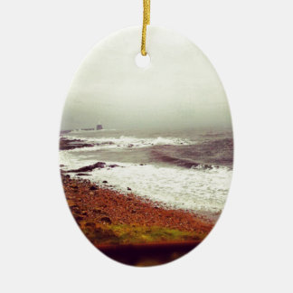 Stormy Seas Ceramic Oval Decoration