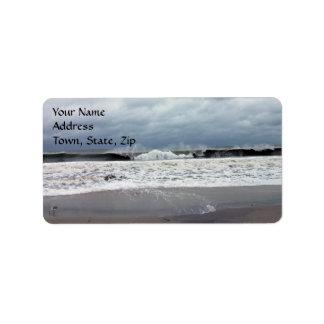Stormy Seas of the Atlantic Ocean Address Label