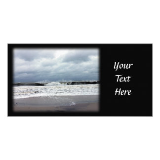 Stormy Seas of the Atlantic Ocean Personalized Photo Card