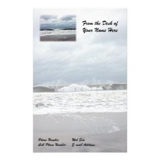 Stormy Seas of the Atlantic Ocean Stationery Design