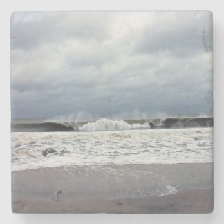 Stormy Seas of the Atlantic Ocean Stone Coaster