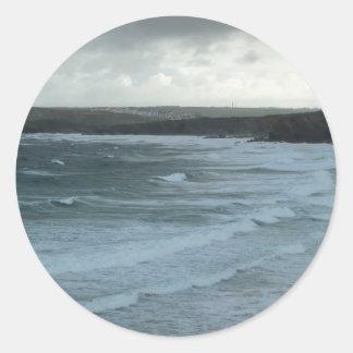 Stormy Seas Round Sticker