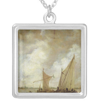 Stormy Seascape, 1655 Silver Plated Necklace