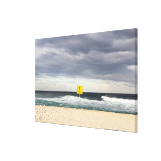 Stormy skies over Bronte Beach Canvas Print