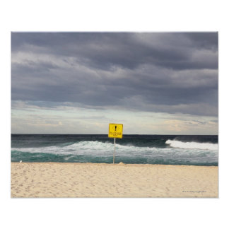 Stormy skies over Bronte Beach Poster
