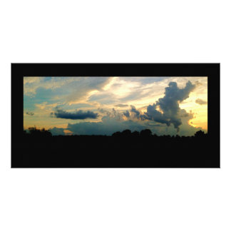 Stormy Skies Sunset Photo Card Template