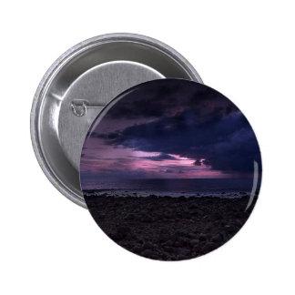 Stormy Sunset 6 Cm Round Badge