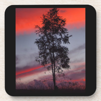 Stormy sunset drink coaster set