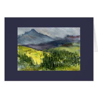 Stormy Watercolor San Juan Mts. Plein Air Greeting Card