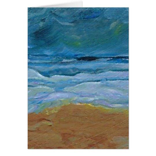 Stormy Waves  CricketDiane Ocean Art Card