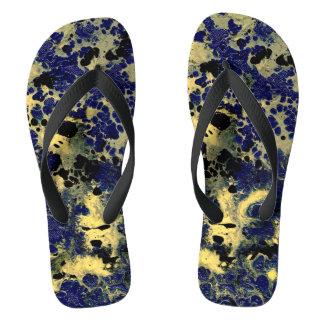 STORMY WEATHER (an abstract art design) ~ Flip Flops