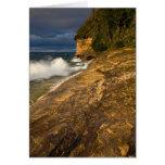 Stormy Weather Crashing Waves Greeting Card